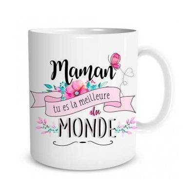 """Mug """"Family & Friend"""" : Maman tu es la meilleure du monde"""