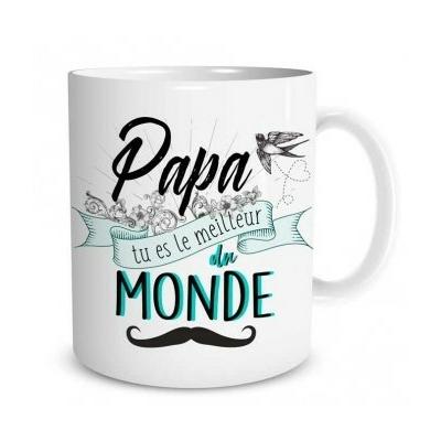 """Mug """"Family & Friend"""" : Papa tu es le meilleur du monde"""