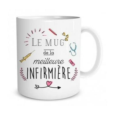 """Mug """"Family & Friend"""" : Le mug de la meilleure infirmière"""