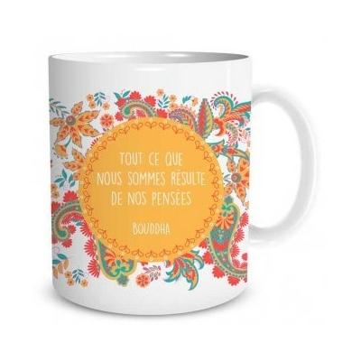 """Mug """"Bien-être"""" : Tout ce que nous sommes résulte de nos pensées"""