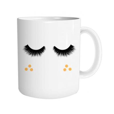 """Mug """"Cils"""" : Cils lence... Réveil en cours"""