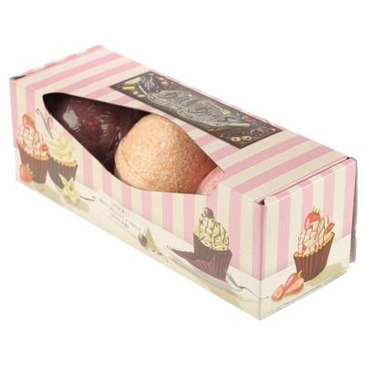 Lot de 3 Boules de Bain Cupcakes parfums sucrées