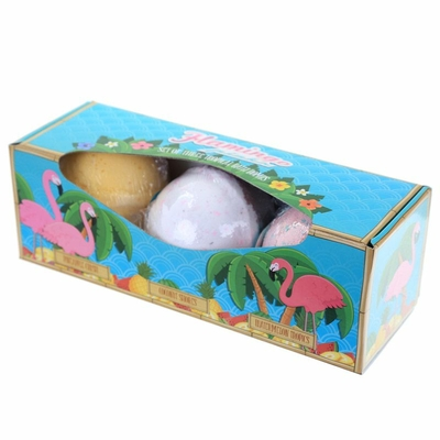 Lot de 3 Boules de Bain Flamingo parfums tropicales