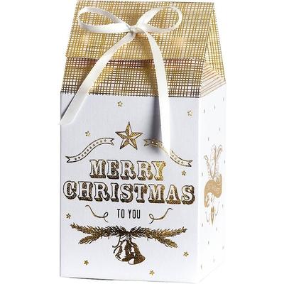 Boite cadeau pliante avec ruban de satin Merry Christmas