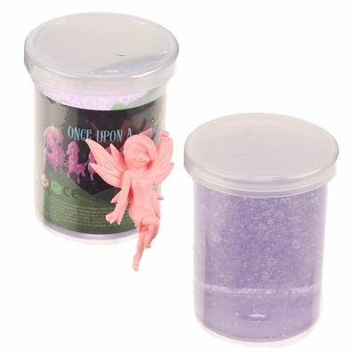 Pâte Gluante Slime avec Figurine Fée pot violet