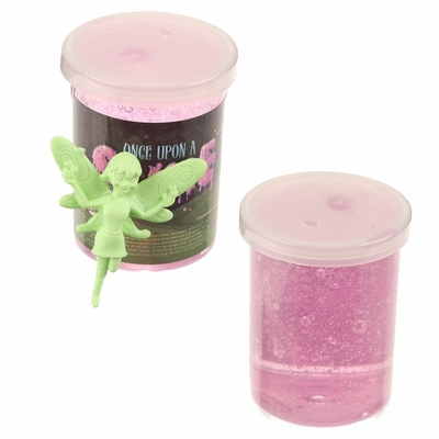 Pâte Gluante Slime avec Figurine Fée pot rose
