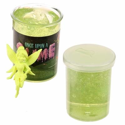 Pâte Gluante Slime avec Figurine Fée pot jaune