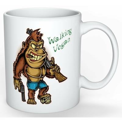 Mug Cadeau pour Végan : Gorille Walking Végan