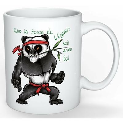 Mug Cadeau pour Végan : Panda Yoda Végan