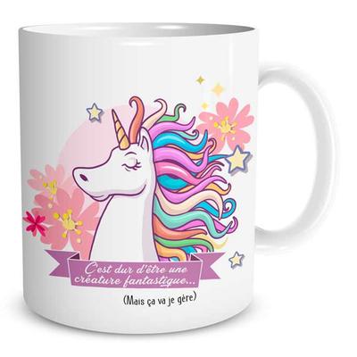 """Mug """"Licorne"""" : C'est dur d'être une créature fantastique..."""
