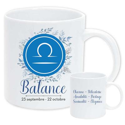"""Mug """"Astrologique"""" : Balance"""