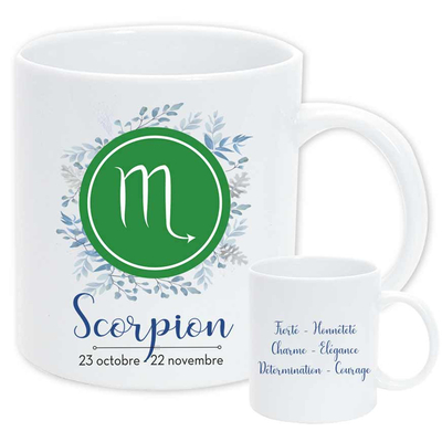"Mug ""Astrologique"" : Scorpion"