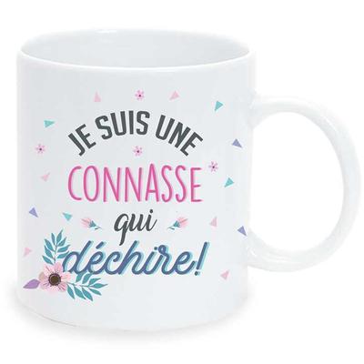 """Mug """"Art de Vivre"""" : Je suis une connasse qui déchire!"""