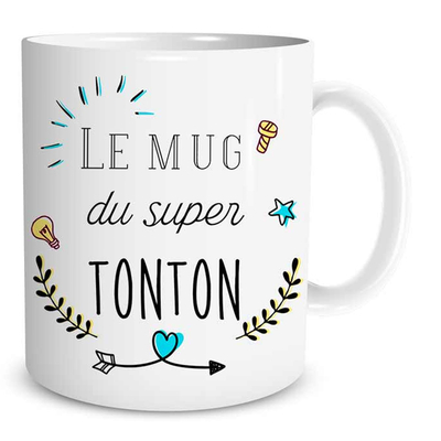 "Mug ""Family & Friend"" : Le mug du super Tonton"