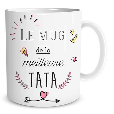 "Mug ""Family & Friend"" : Le mug de la Meilleure Tata"