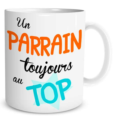 """Mug """"Family & Friend"""" : Un Parrain toujours au Top"""