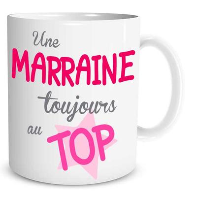 """Mug """"Family & Friend"""" : Une Marraine toujours au Top"""