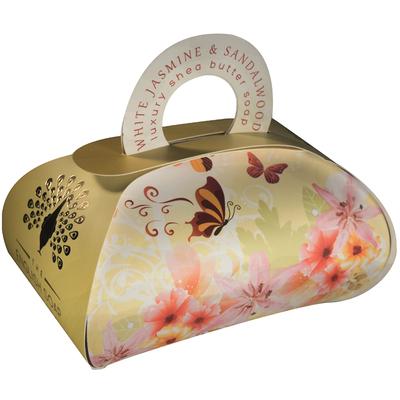 Savon ballotin cadeau : Jasmin blanc et Bois de santal