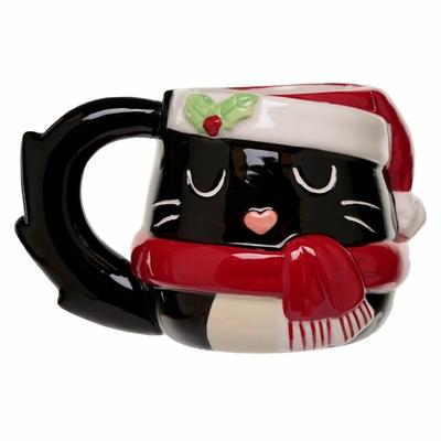 Mug de Noël Festif Chat