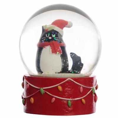 Boule à Neige Chat de Noël
