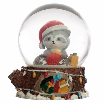 Boule à Neige Raton Laveur de Noël