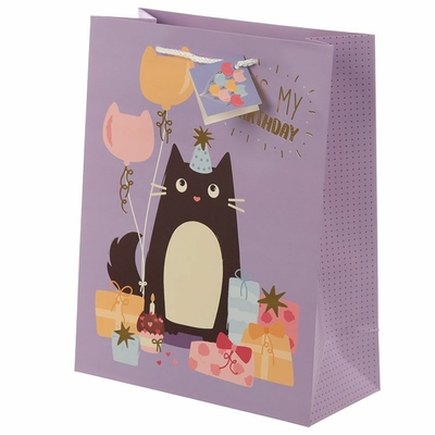Sac Cadeau Chat - Large