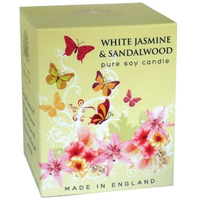 Bougie 35 heures : Jasmin blanc et Bois de santal