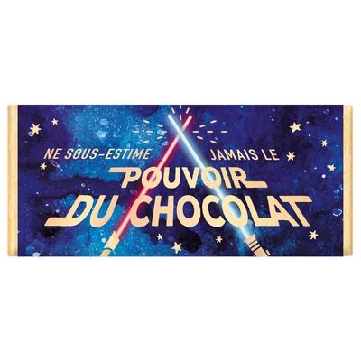 Tablette de chocolat Message : Ne sous-estime jamais le pouvoir du chocolat