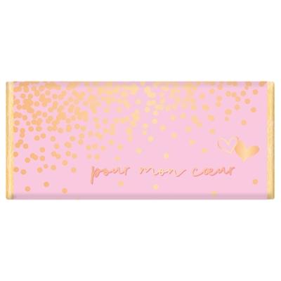 Tablette de chocolat Message : Pour mon cœur