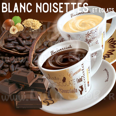 Chocolat chaud italien Saveur : BLANC NOISETTES ET ÉCLATS