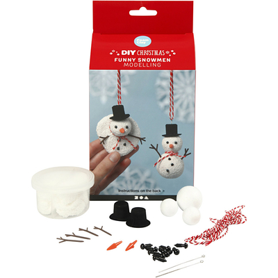 Kits Créatifs Noël : 2 bonhommes de neige