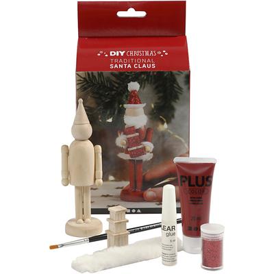 Kits Créatifs Noël : Père Noël en bois