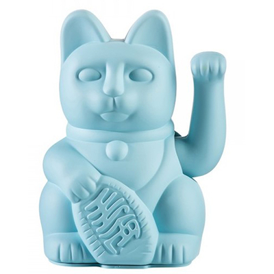 Lucky Cat - Chat Maneki Neko Bleu ciel