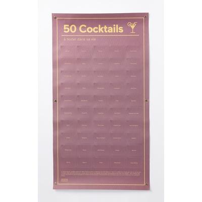 Poster 50 cocktails à tester dans sa vie