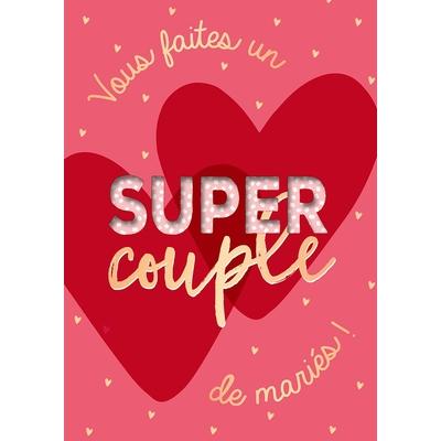 Carte postale Musicale : Vous faites un super couple de mariés !