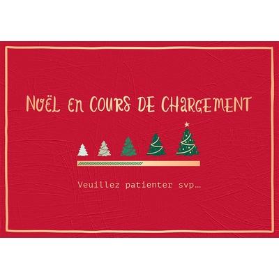Carte Postale Noël : Noël en cours de chargement...