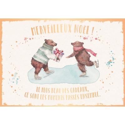 Carte Postale Noël : Merveilleux Noël ! Le plus beau des cadeaux...