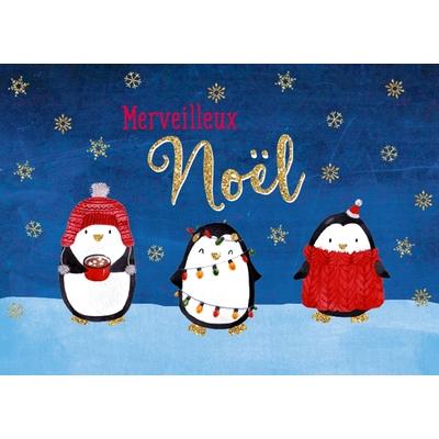 Carte Postale Noël : Merveilleux Noël