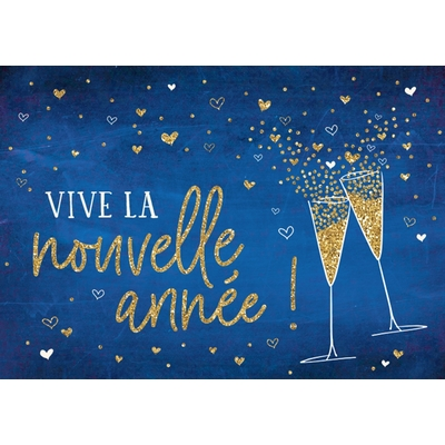 Carte Postale Bonne Année : Vive la nouvelle année !