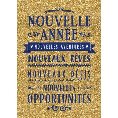Carte Postale Bonne Année : Nouvelle Année, Nouvelles Aventures, Nouveaux Rèves...