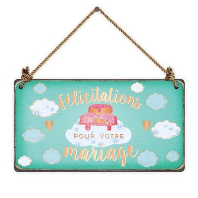 Pancarte : Félicitations pour votre mariage