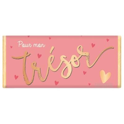 Tablette de chocolat Message : Pour mon trésor