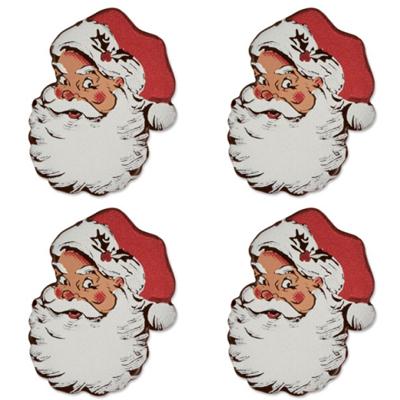 Décor en chocolat noir : Père Noël - Lot de 4