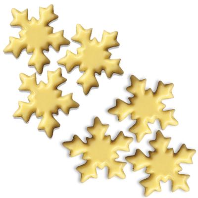 Décor en chocolat blanc : Flocons de neige - Lot de 6