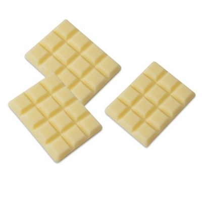 Décor en chocolat blanc : Mini tablette chocolat - Lot de 3
