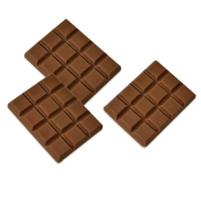 Décor en chocolat lait : Mini tablette chocolat - Lot de 3
