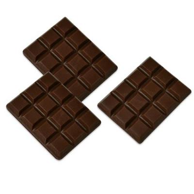 Décor en chocolat noir : Mini tablette chocolat - Lot de 3