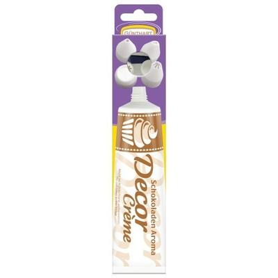 Décor en sucre : Tube de décor crème saveur chocolat 100 grs