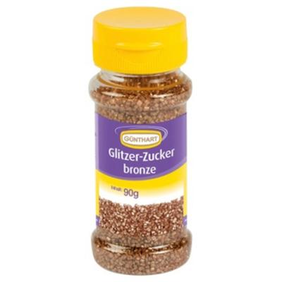 Décor en sucre : Décors à parsemer scintillants couleur bronze