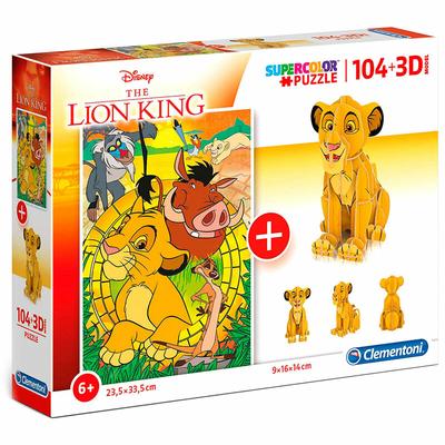 Puzzle Disney Clementoni Le Roi Lion 104 pièces + 3D Model